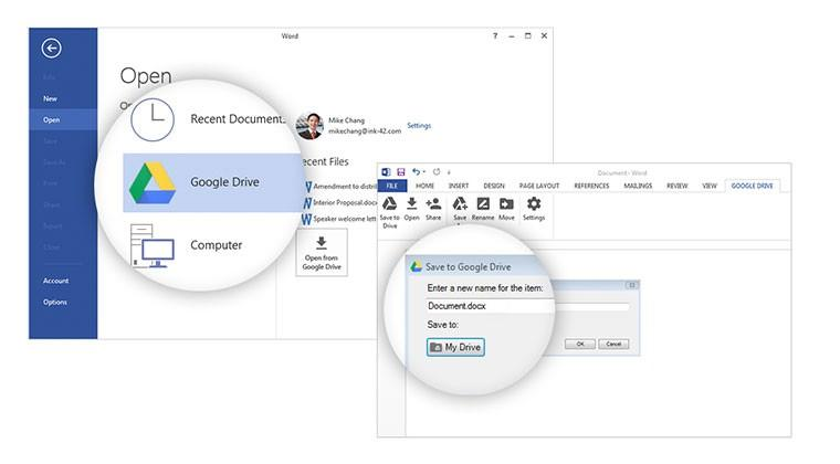 Google Drive plugs in to Microsoft Office to sidestep OneDrive
