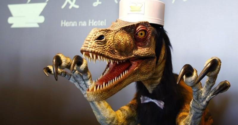 Forget humanoid receptionists, Henn na Hotel has a dinosaur