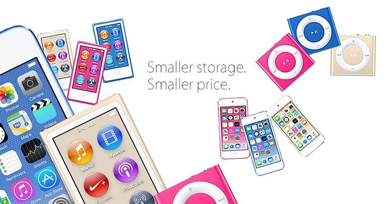 New iPods launching July 14th with smaller storage
