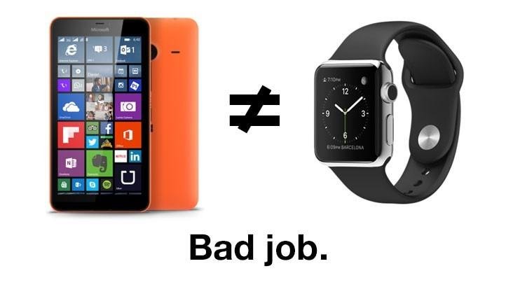 """Dear analysts: Microsoft did not """"beat"""" the Apple Watch"""