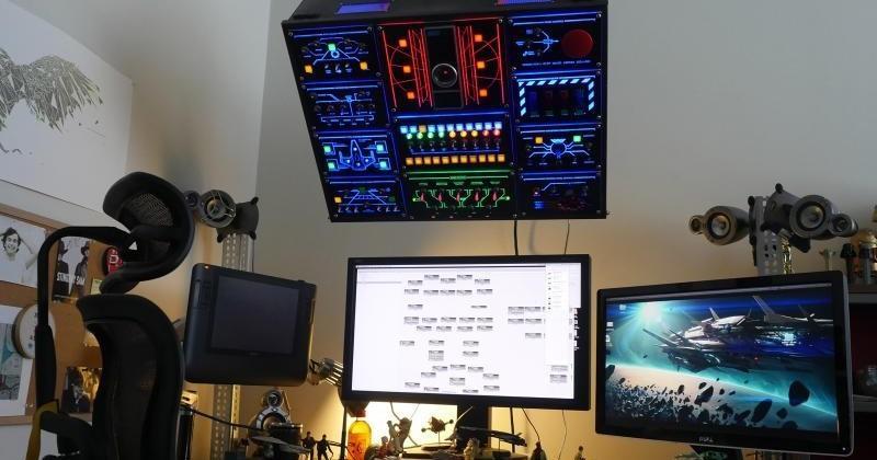 DIY overhead control panel would make NASA proud