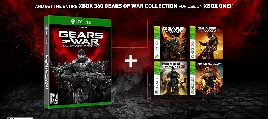 Gears of War: Ultimate Edition includes all original games via backwards compatibility