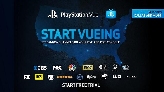 PlayStation Vue streaming TV comes to Dallas, Miami