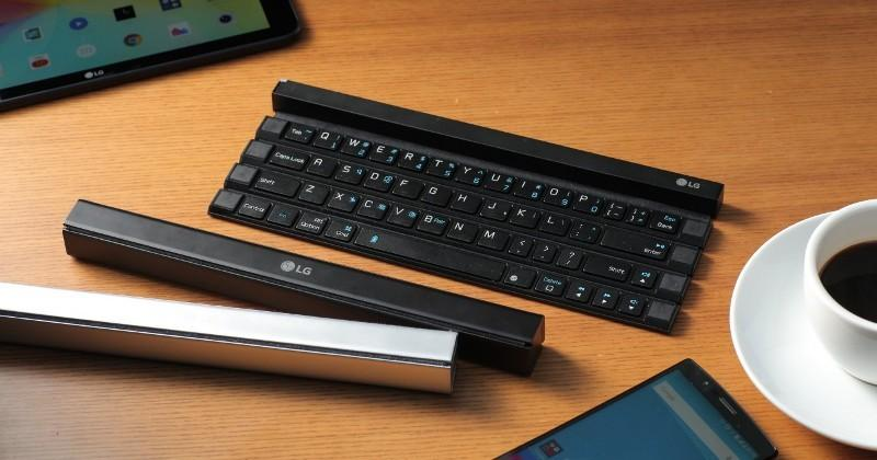 LG Rolly Keyboard rolls into a stick to fit in your bag