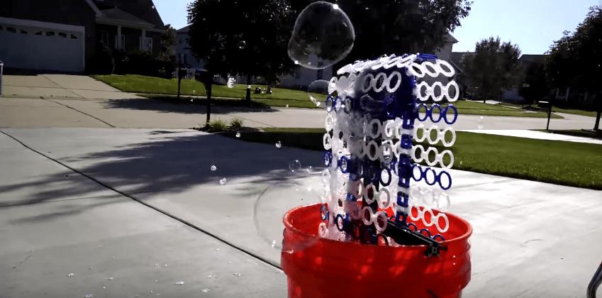 3D-printed 'Bubble Bucket' blows 14,000 bubbles per minute