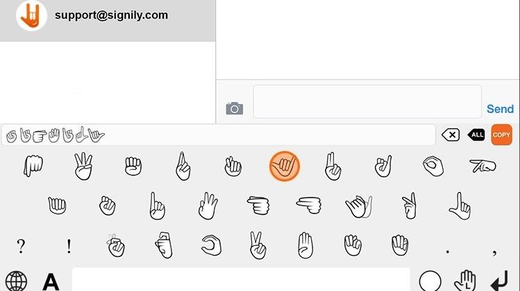 iOS keyboard app Signily lets users type with sign language