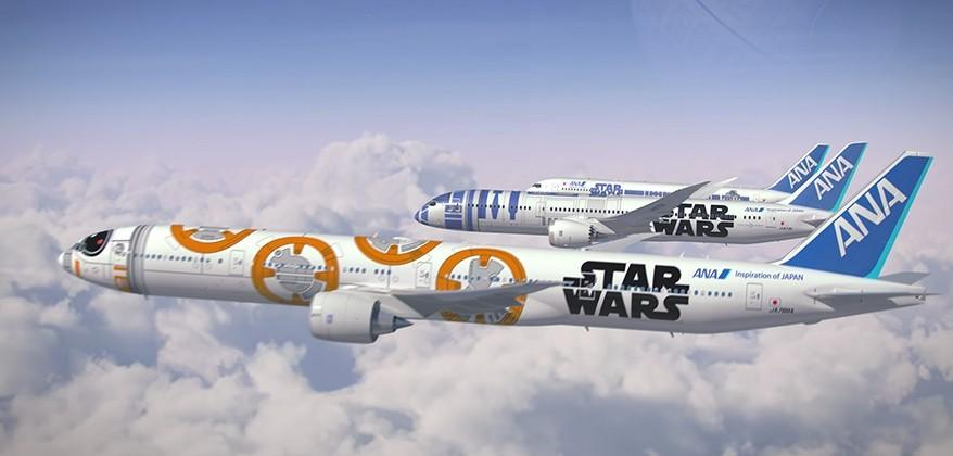 Japan ANA airline begins featuring Star Wars: The Force Awakens