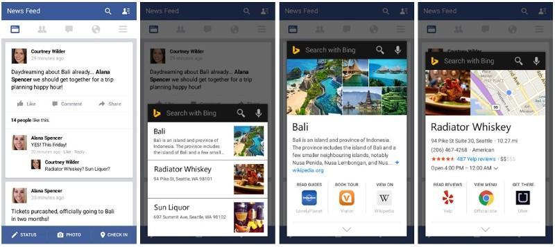 Bing Android app's Snapshot preempts Google Now on Tap
