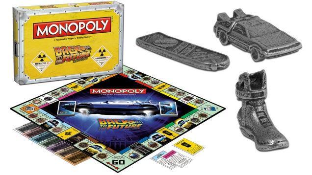 Back to the Future Monopoly includes DeLorean token