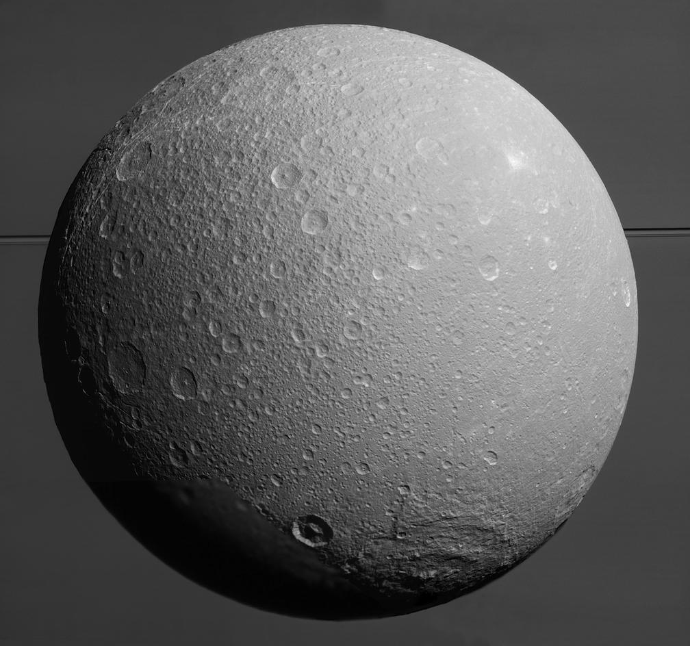 NASA releases final close-up images of Saturn's moon Dione