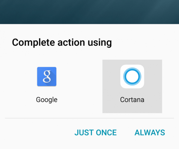 Android users can replace Google Now with Cortana