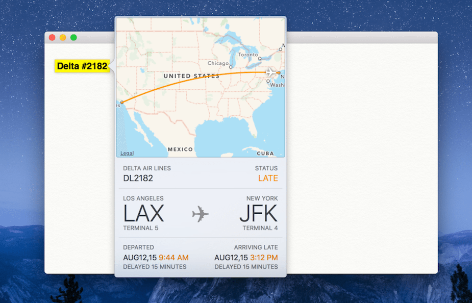 iOS 9, OS X El Capitan to feature native flight tracking