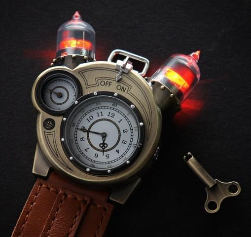 ThinkGeek's Tesla Watch is steampunk-chic