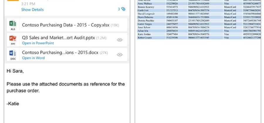 Microsoft unveils deeper integration of Office docs and Outlook for iOS