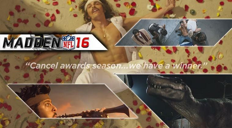 """This Madden NFL 16 ad has dancing, dinosaurs, and """"Al Pacino"""""""