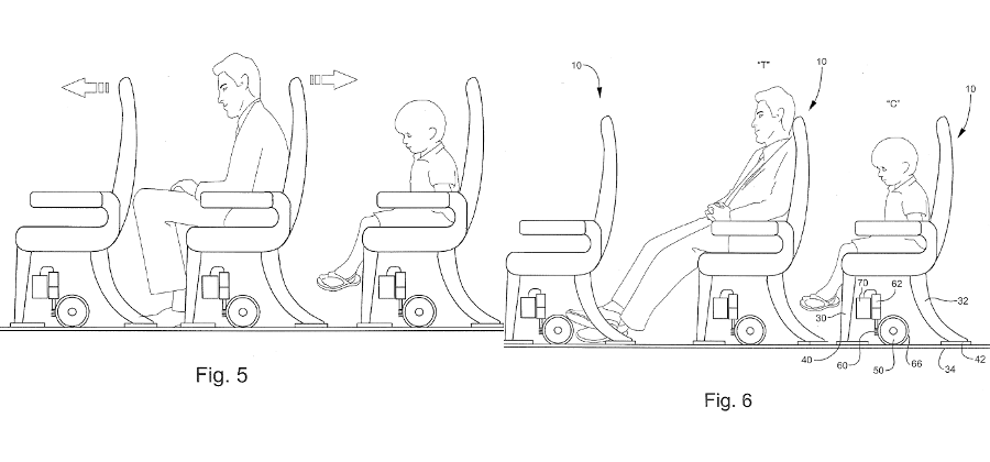 """Patent for """"slideable"""" plane seats might be terrible idea"""