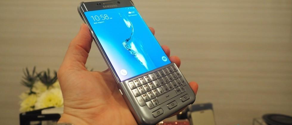 Samsung's BlackBerry-style keyboard case for the S6 edge+ is real