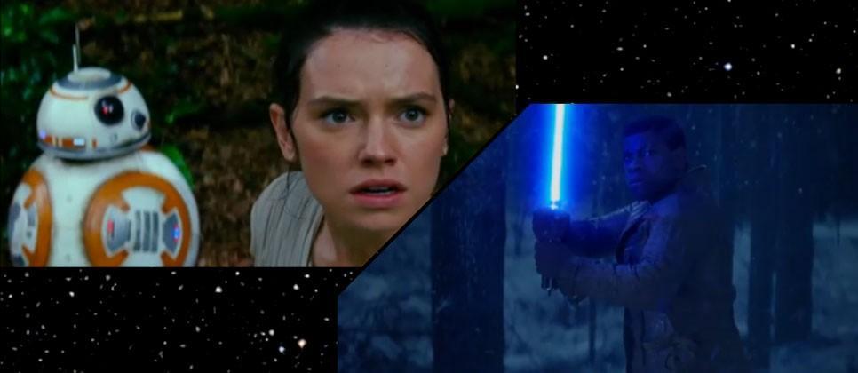Star Wars The Force Awakens teaser trailer 3: Rey, Finn, blue lightsaber included
