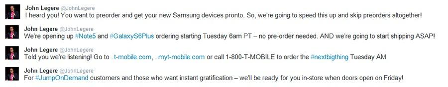 Galaxy Note 5 And S6 Edge T Mobile Release Bumped Up To Tomorrow