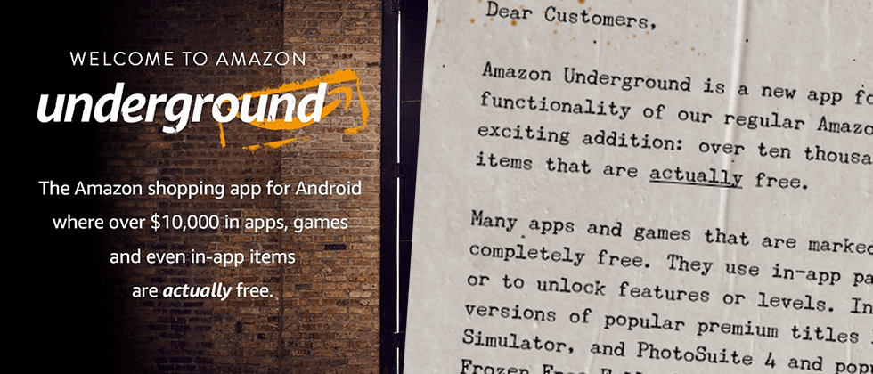 Amazon Underground: invading Google's Android once again