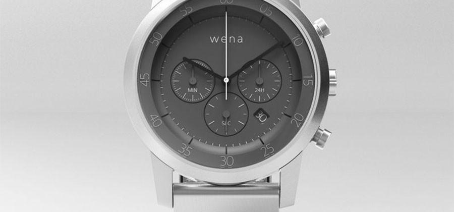 Sony Wena smartwatch puts traditional face on a smart band