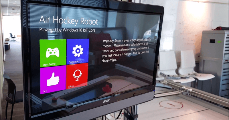 Windows 10 IoT Core is out, powers air hockey robot