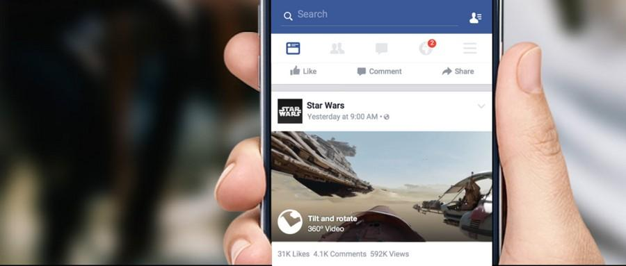 Facebook 360 videos begin to roll out in news feed