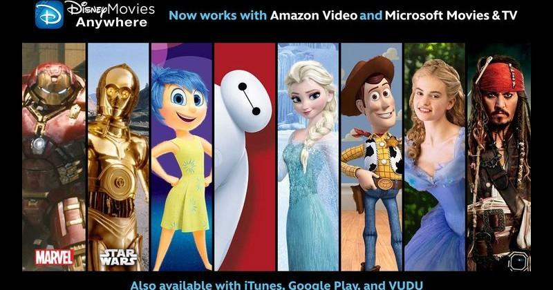 Disney Movies Anywhere embraces Amazon, Microsoft, Android TV