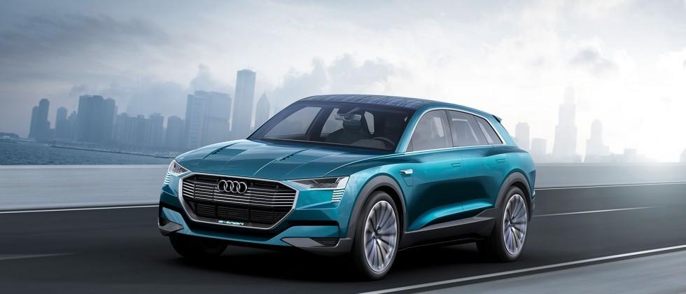 Audi's 496HP e-tron quattro concept previews 2018's all-electric SUV
