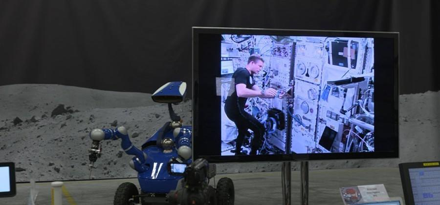 ESA astronaut controls rover on the ground while orbiting on the ISS