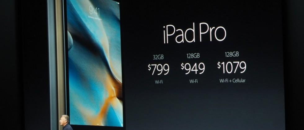 iPad Pro pricing and release details: starting this November