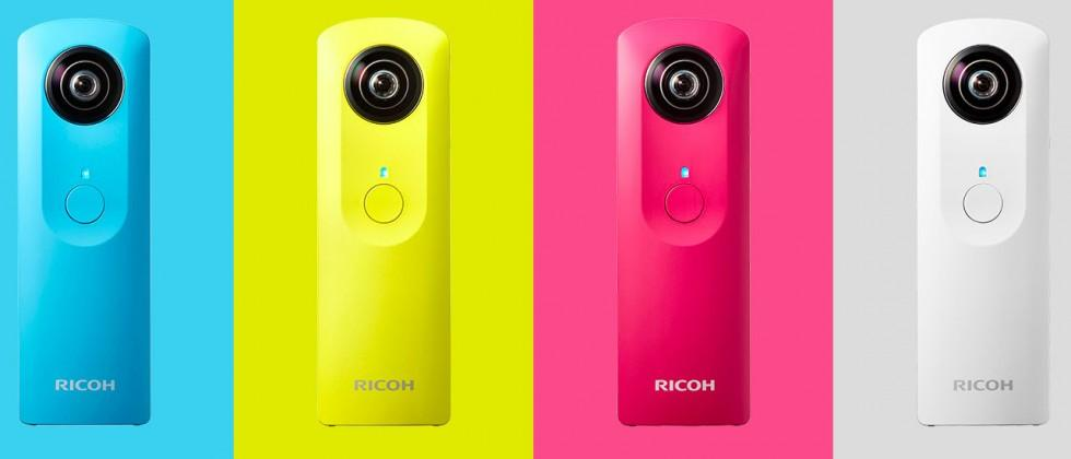 Ricoh Theta S camera captures 360-degree scenes