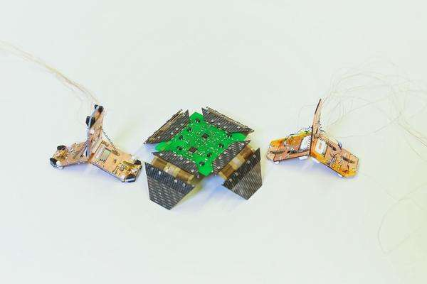 Researchers use origami to build crawling, jumping robots
