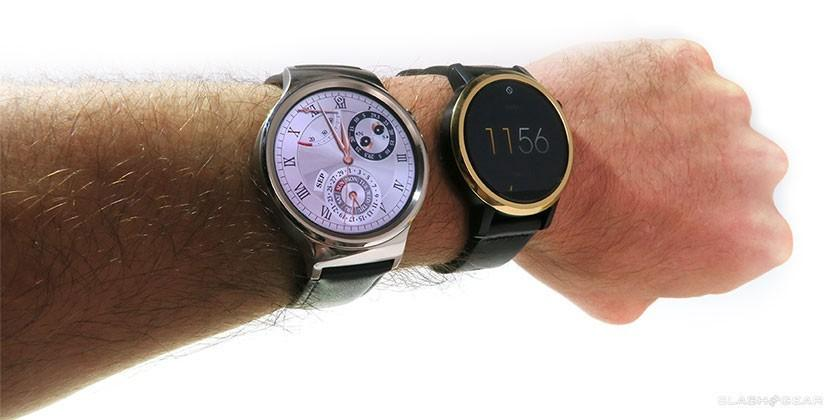Moto 360 (2015) vs Huawei Watch hands-on: so similar, so shiny