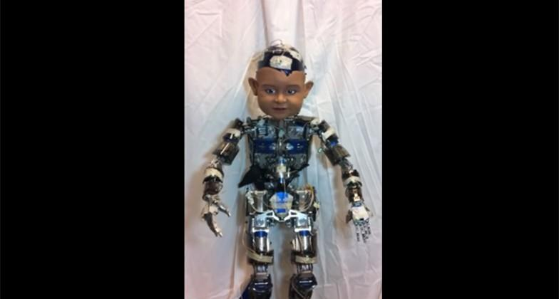 Giant baby faced robot used to study infant expressions