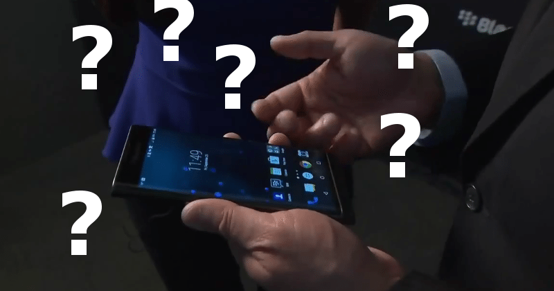 CEO John Chen shows off the BlackBerry Priv, gets lost