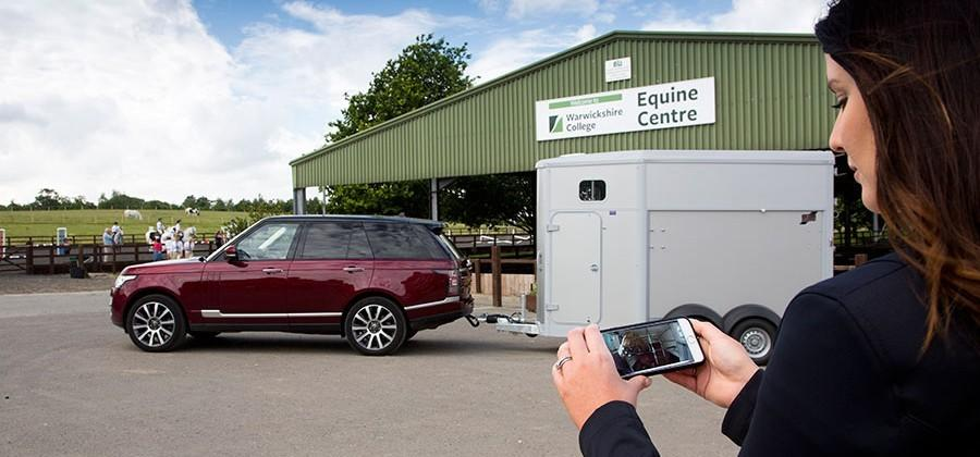 Land Rover camera system makes your trailer disappear