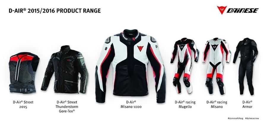 Dainese motorcycle airbag jackets aim to protect riders in an accident