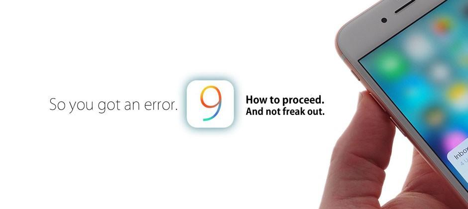 iOS 9 download error? Try iTunes (no, really)