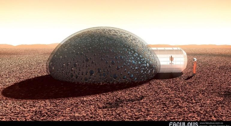 3D-printed Mars habitat concept teases the imagination