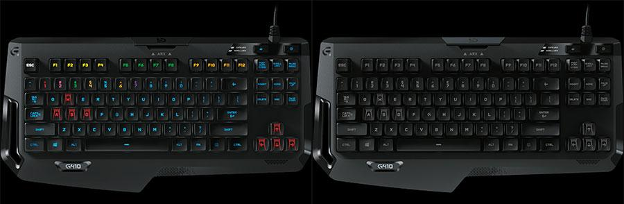 G410 Atlas spectrum gaming keyboard ditches ten key adds G Arx dock