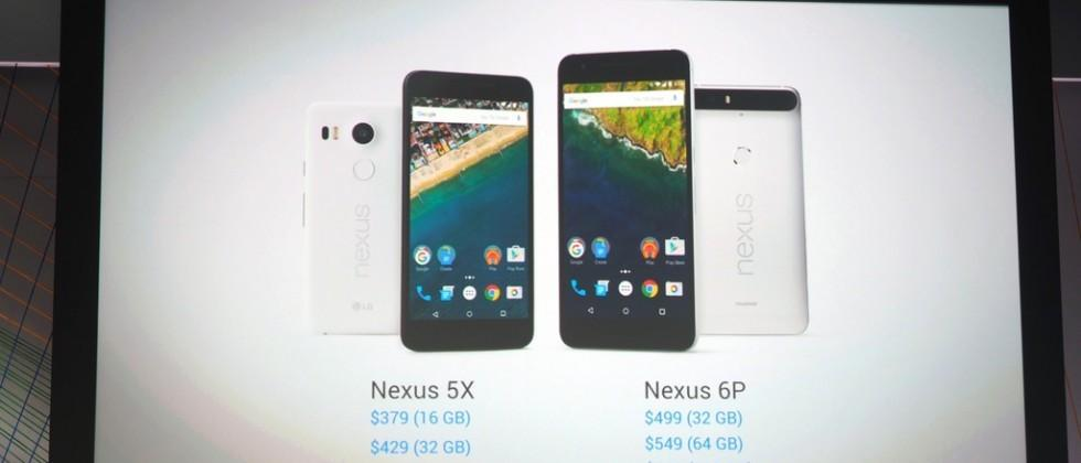 Nexus 5X and Nexus 6P available for pre-order (and on Fi) today