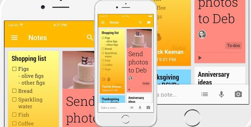 Google Keep released to iPhone