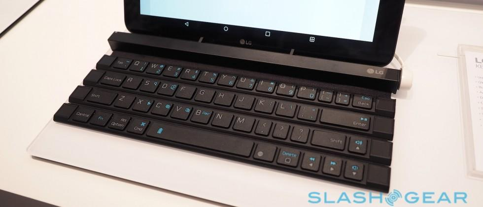 Hands-on with LG's Rolly, a keyboard you unfurl
