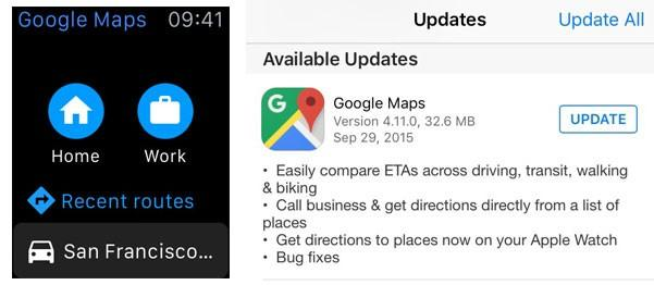 Google Maps Released For Apple Watch Slashgear