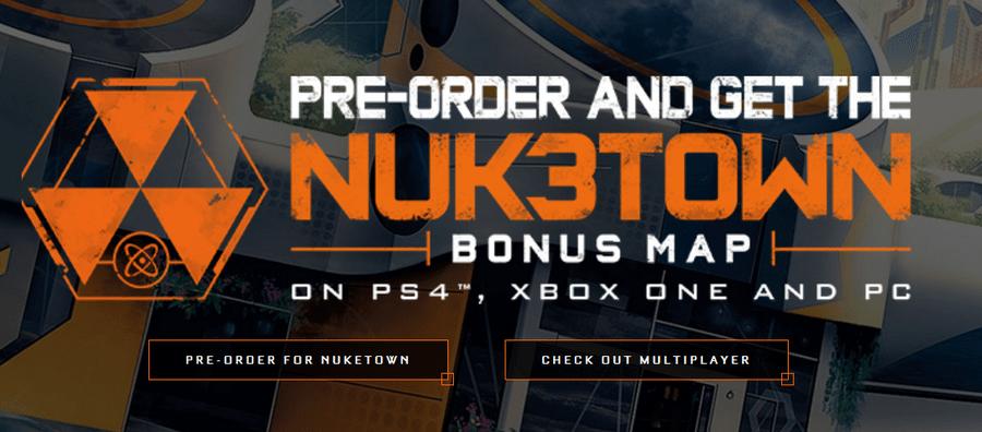 Black Ops III pre-orders include Nuk3town multiplayer map
