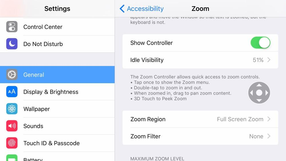 iPhone 6s has a zoom with 3D touch feature