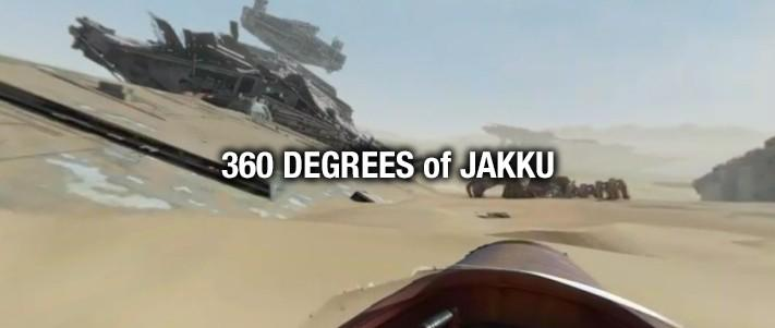 Star Wars 360 video sends you speeding on Jakku