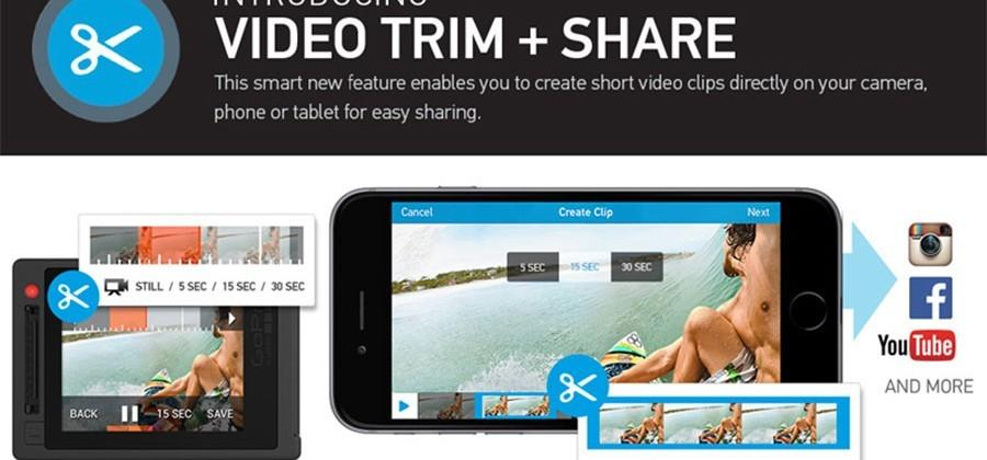 GoPro adds video Trim + Share to app and cameras
