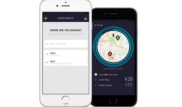 Uber testing uberCOMMUTE, a carpooling feature for drivers